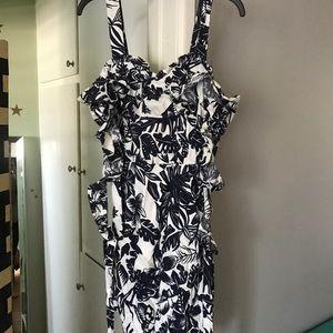 SEE BY CHLOE Hawaiian leaf print dress
